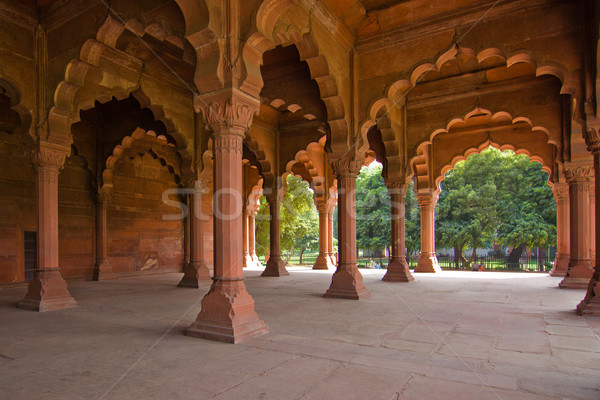 Indian rouge fort Delhi Inde pierre Photo stock © ErickN