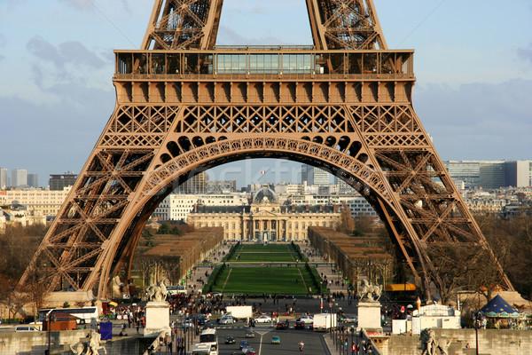 Эйфелева башня мнение первый полу Париж Сток-фото © ErickN