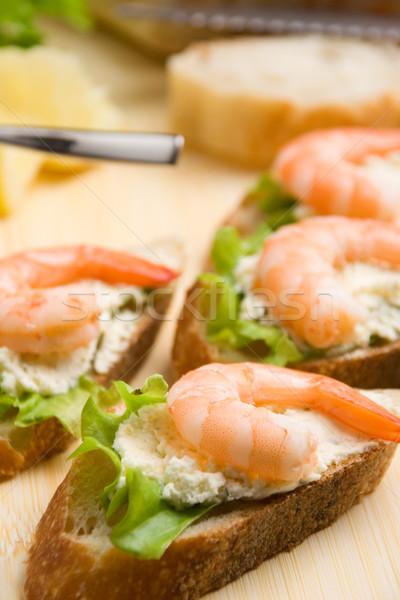 Shrimp toasts Stock photo © ErickN