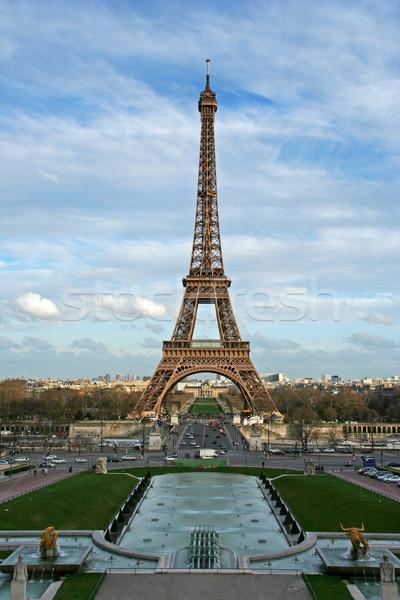 Tour Eiffel carré Paris France Photo stock © ErickN