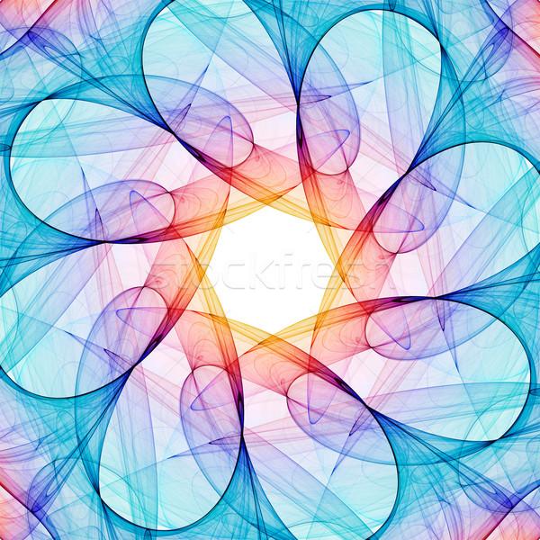 フラクタル 万華鏡 カラフル 3D レンダリング パターン ストックフォト © ErickN