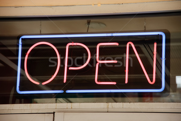 Open neon sign Stock photo © ErickN