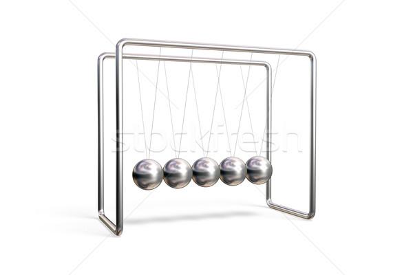 колыбель изолированный белый науки баланса Swing Сток-фото © ErickN