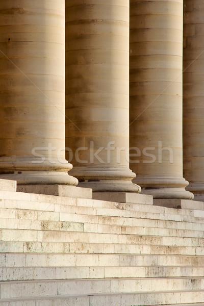Schody kolumny francuski giełdzie Paryż Francja Zdjęcia stock © ErickN