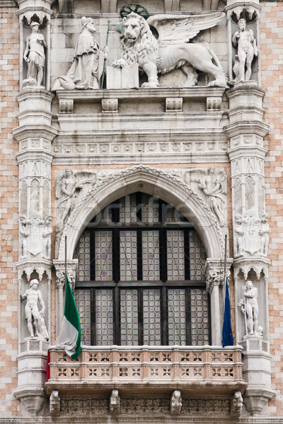 Doges Palace window in Venice Stock photo © ErickN