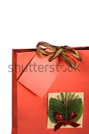 Stockfoto: Christmas · geschenk · ingericht · verjaardag · zak · uit