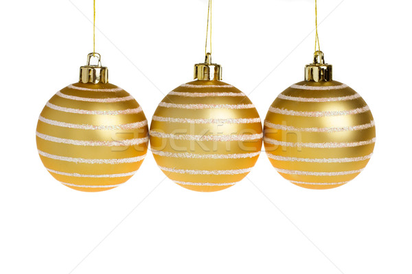 Stock photo: Golden Christmas balls