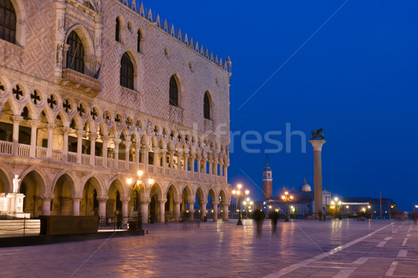 Doges Palace at dusk in Venice Stock photo © ErickN