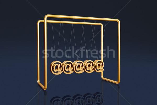 Internet Wiege Symbole dunkel Zeichen Stock foto © ErickN