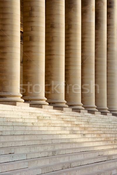 Escaliers colonnes français bourse Paris France Photo stock © ErickN