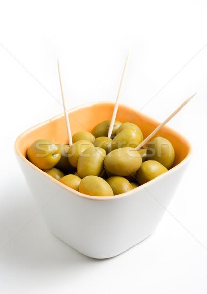 Photo stock: Vert · olives · tasse · alimentaire · manger · Grèce