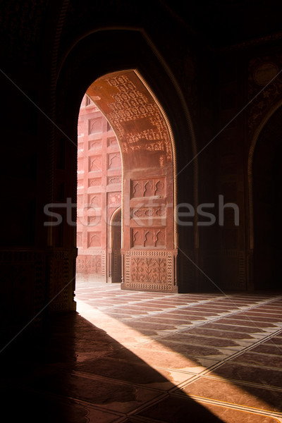 Stok fotoğraf: Tac · Mahal · cami · ışık · giriş · ibadet · Asya