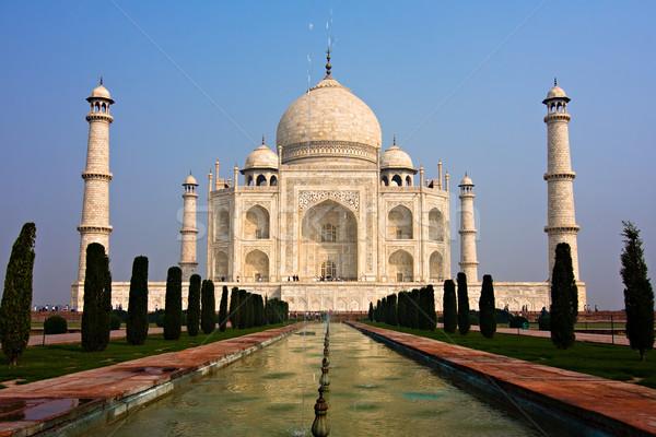 Foto stock: Taj · Mahal · mausoléu · edifício · Ásia · perspectiva · turismo