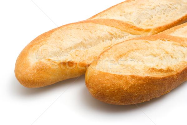 Francia bagettek közelkép kilátás kettő francia kenyér Stock fotó © ErickN