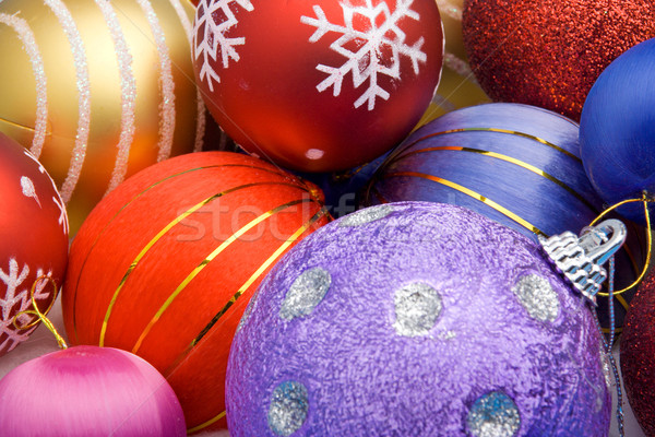 Colorful Christmas balls Stock photo © ErickN