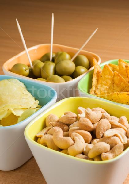 Photo stock: Quatre · olives · acajou · noix