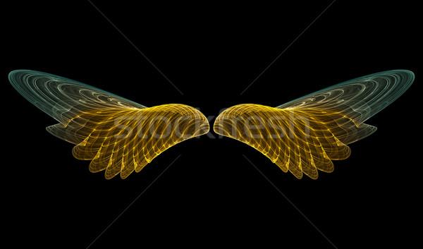 Złoty anioł streszczenie 3D Zdjęcia stock © ErickN