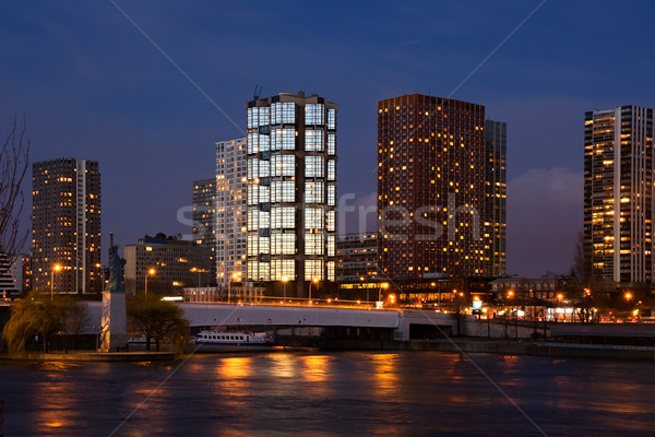 Beaugrenelle skyline Stock photo © ErickN