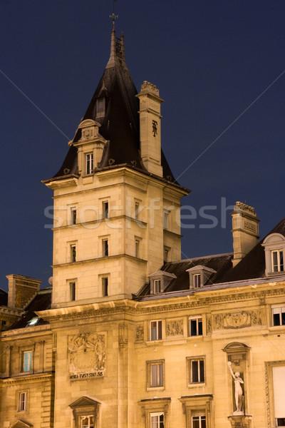 Wieża słynny paryski przestępca policji Paryż Zdjęcia stock © ErickN