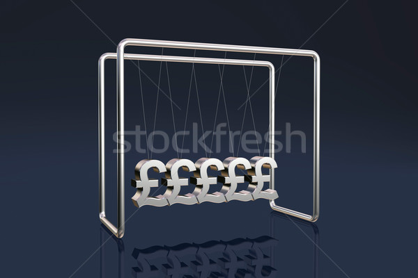 British pounds cradle Stock photo © ErickN