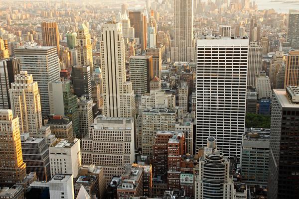 Manhattan gratte-ciel crépuscule cityscape haut Photo stock © ErickN