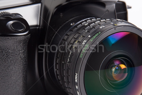 Fisheye lens closeup Stock photo © ErickN