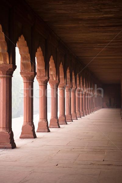 Photo stock: Entrée · couloir · Taj · Mahal · tôt · le · matin · brouillard · Asie