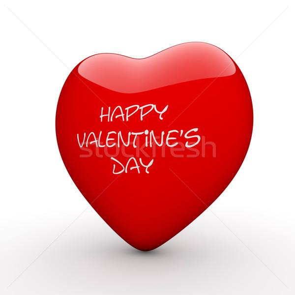 3D Rood hart valentijnsdag 3d render geschenk Stockfoto © ErickN