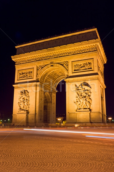 Photo stock: Arc · de · Triomphe · nuit · carré · Paris · France · Voyage