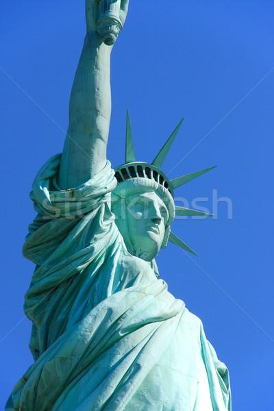 Posąg wolności widoku pani wyspa Zdjęcia stock © ErickN