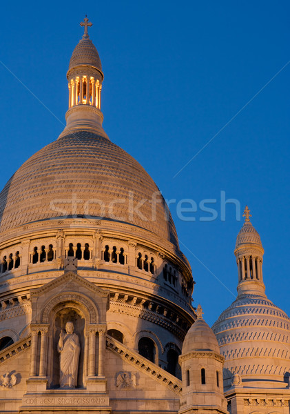 The dome of the Sacre Coeur at twilight Stock photo © ErickN