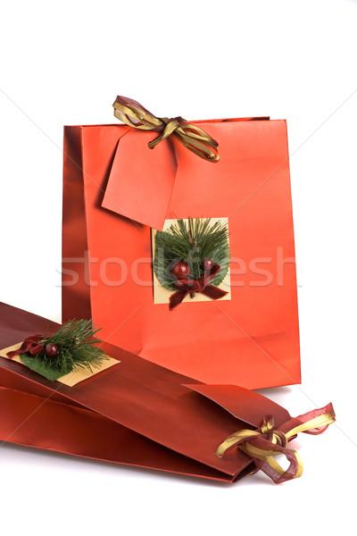 Stockfoto: Christmas · geschenken · ingericht · verjaardag · geschenk · zakken