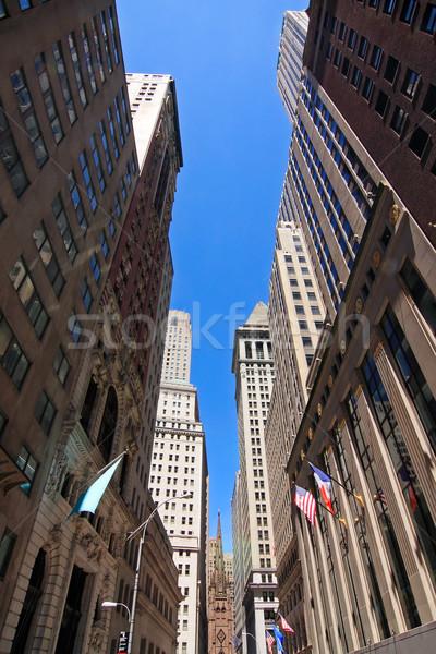 Wall Street мнение зданий Нью-Йорк США Сток-фото © ErickN