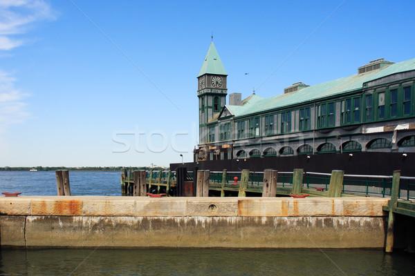 Photo stock: Pier · batterie · parc · bâtiment · New · York · City · USA