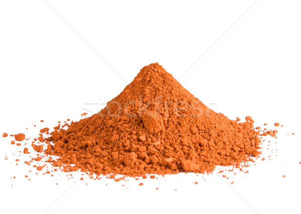 Red ochre pigment pile Stock photo © ErickN