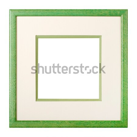 Green picture frame with matte Stock photo © ErickN