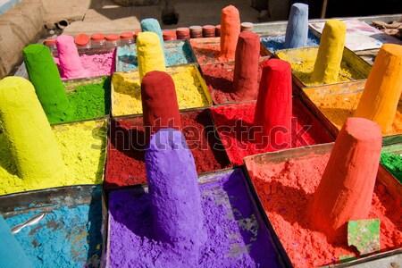 Powder pigments Stock photo © ErickN