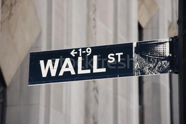 Wall Street знак Manhattan Нью-Йорк США Сток-фото © ErickN