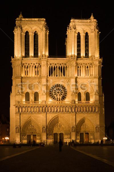 Cathédrale nuit Paris France Photo stock © ErickN