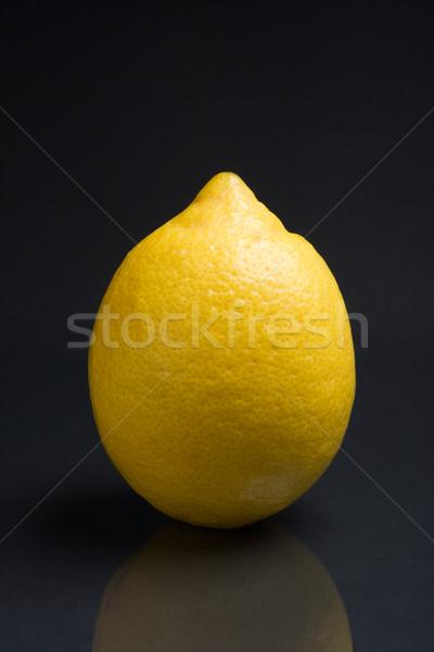 Fraîches citron sombre réfléchissant santé marché Photo stock © ErickN