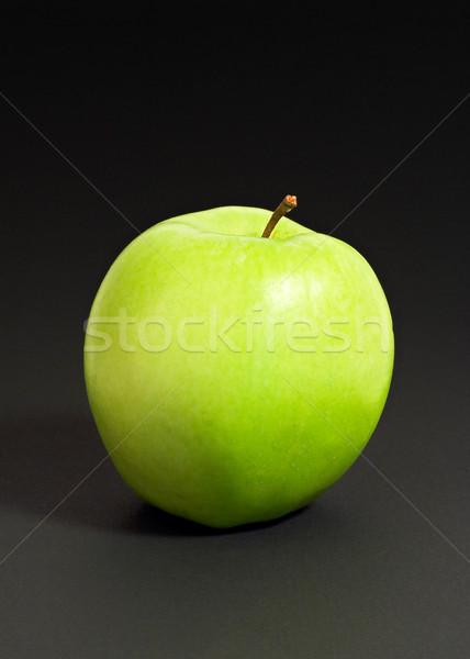 зеленый яблоко изолированный черный Сток-фото © ErickN