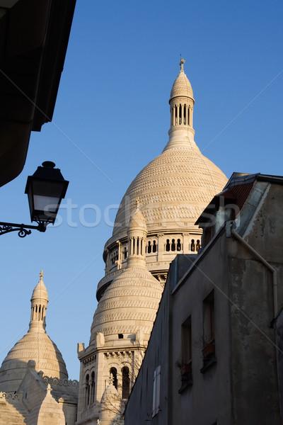 Kubbe mimari detay bazilika montmartre Paris Stok fotoğraf © ErickN