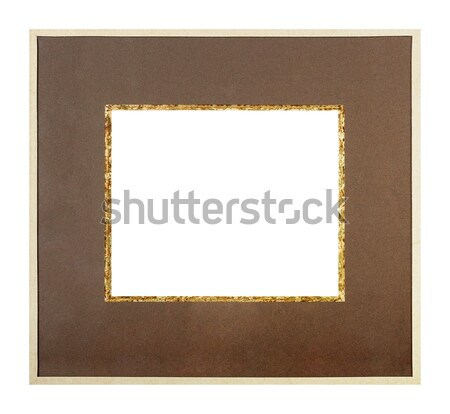 Beige picture frame with brown matte Stock photo © ErickN