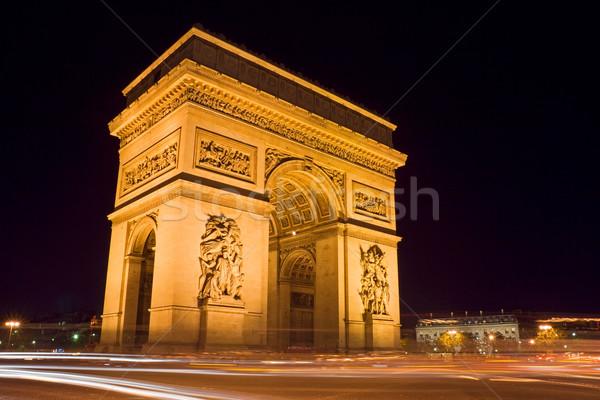 凱旋門 1泊 広場 パリ フランス 旅行 ストックフォト © ErickN