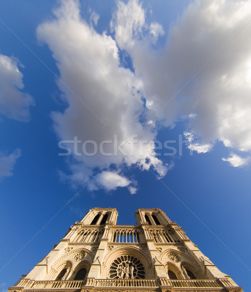 Notre-Dame in the clouds Stock photo © ErickN