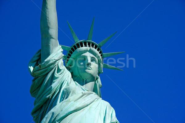 Statue liberté vue New York City USA Photo stock © ErickN