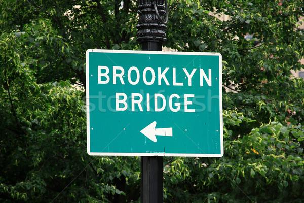 Ponte segnale stradale New York City USA Foto d'archivio © ErickN