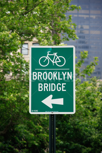 Brug straat teken New York City USA Stockfoto © ErickN