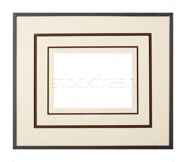 Donkergrijs fotolijstje mat moderne stijl karton Stockfoto © ErickN
