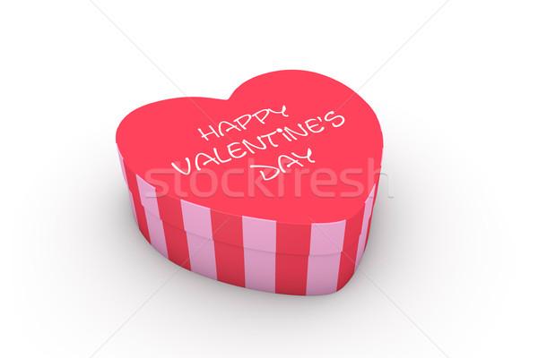 Walentynki serca polu 3d szczęśliwy Zdjęcia stock © ErickN